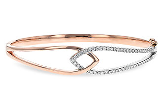 B216-61893: BANGLE BRACELET .50 TW (ROSE & WG)